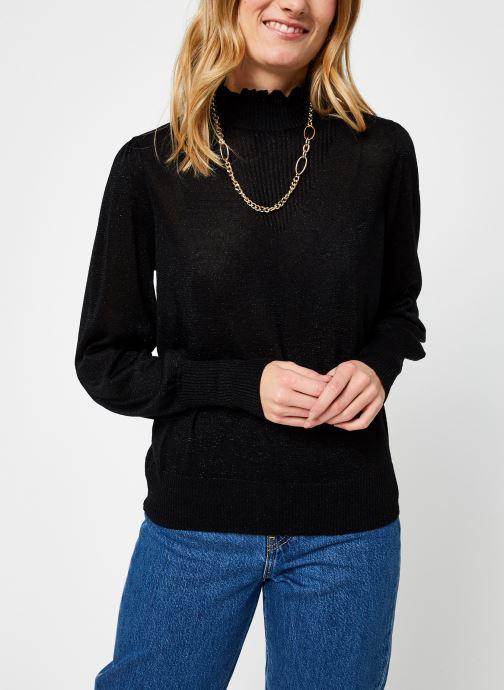 Vêtements Vila Vihermine Knit Higneck Top Noir vue droite