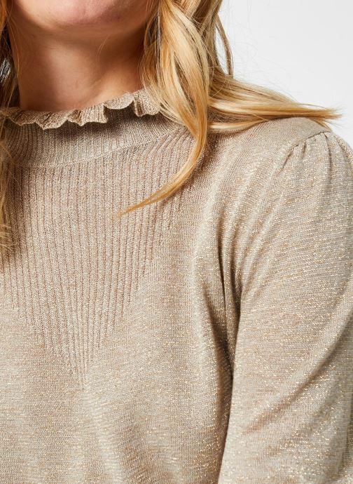 Vêtements Vila Vihermine Knit Higneck Top Beige vue face