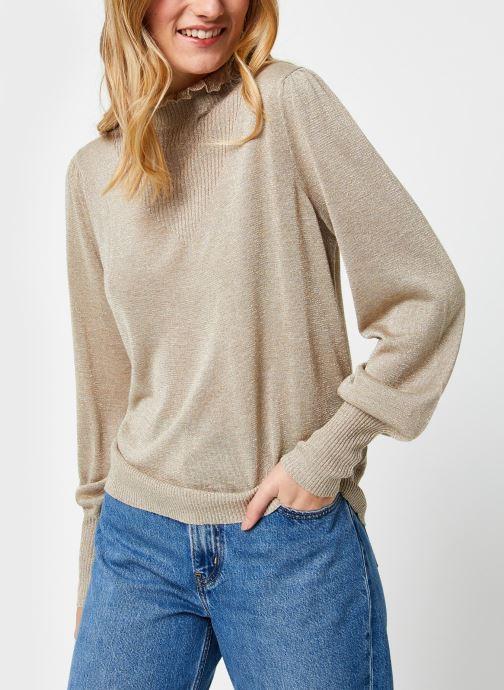 Vêtements Vila Vihermine Knit Higneck Top Beige vue droite