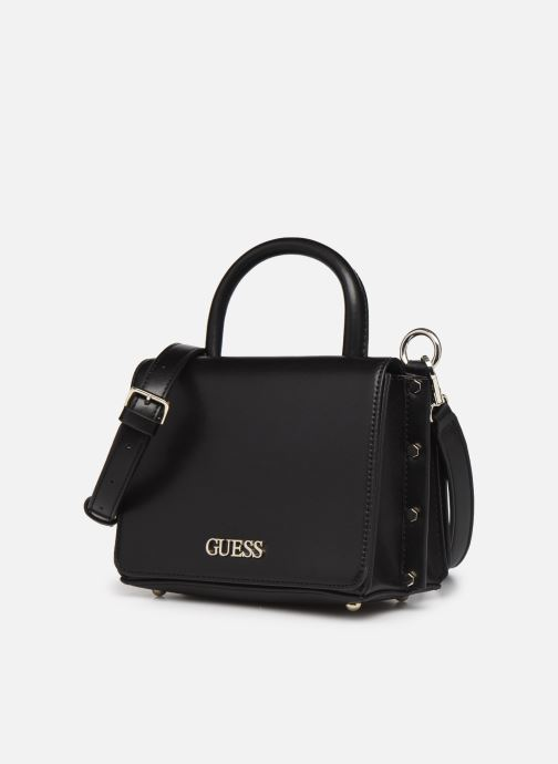 Bolsos de mano Guess TIA DOUBLE FLAP CROSSBODY Negro vista del modelo