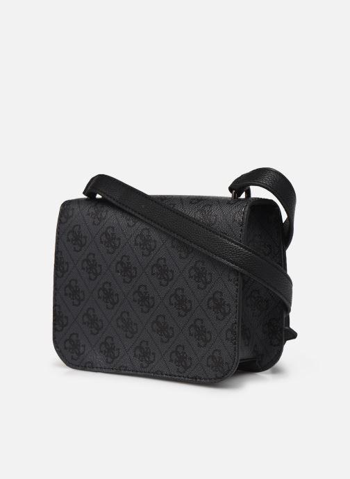 Handtassen Guess NOELLE MINI CROSSBODY FLAP Zwart rechts