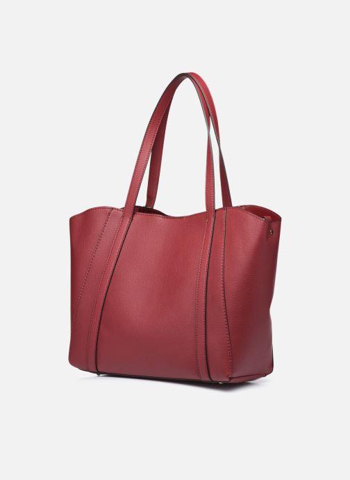 Handtaschen Guess NAYA TRAPTOTE weinrot ansicht von rechts