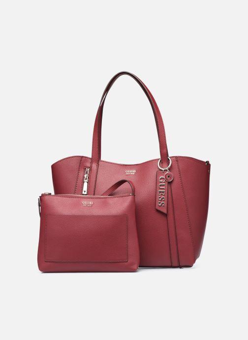 Handtaschen Guess NAYA TRAPTOTE weinrot ansicht von links