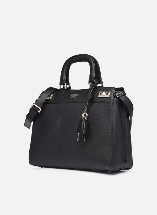 Bolsos de mano Guess KATEY LUXURY SATCHEL Negro vista del modelo