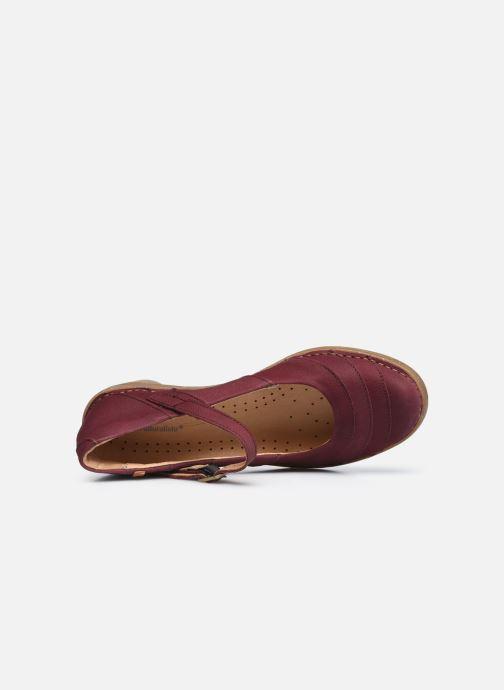 Zapatos de tacón El Naturalista Aqua N5327 C AH20 Rojo vista lateral izquierda