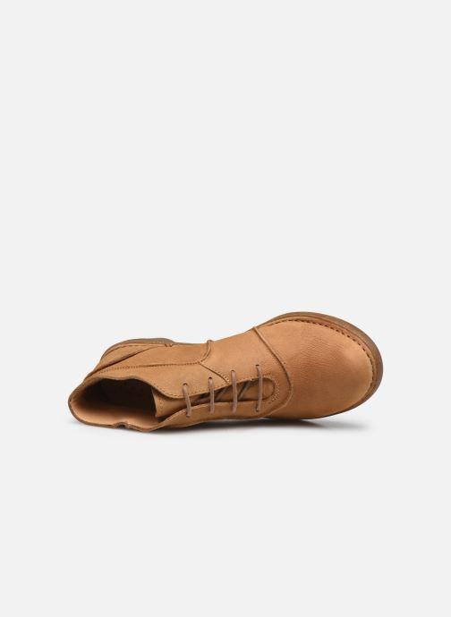 Zapatos con cordones El Naturalista Aqua N5336 C AH20 Marrón vista lateral izquierda