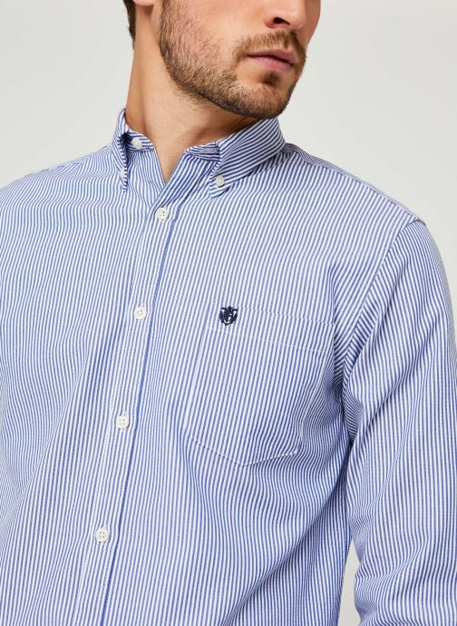 Vêtements Selected Homme Slhregcollect Shirt Ls W Noos Bleu vue face
