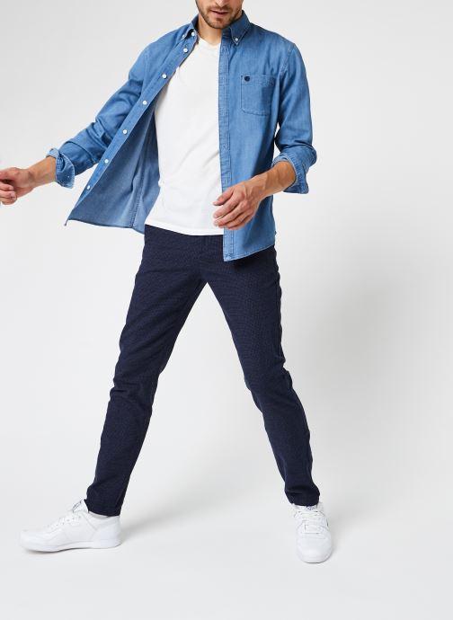 Vêtements Selected Homme Slhregcollect Shirt Ls W Noos Bleu vue bas / vue portée sac