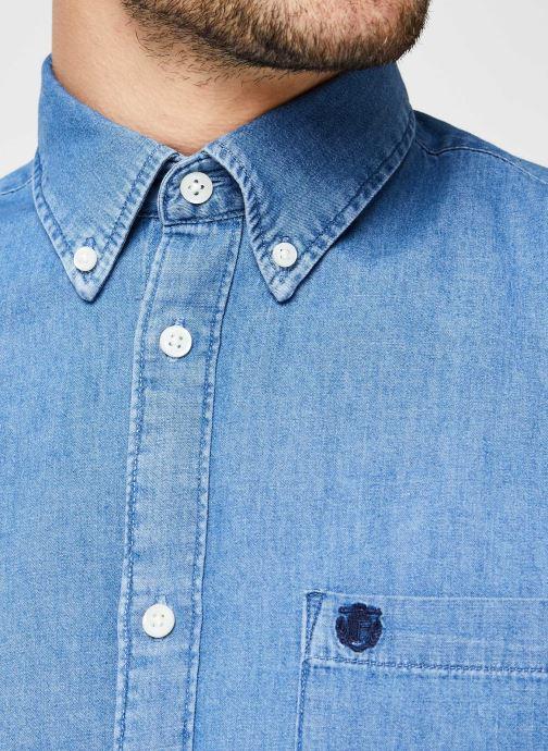 Vêtements Selected Homme Slhregcollect Shirt Ls W Noos Bleu vue face