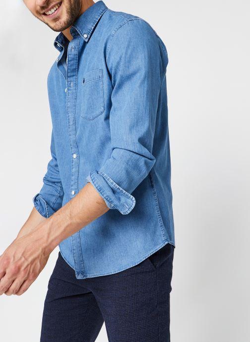 Vêtements Selected Homme Slhregcollect Shirt Ls W Noos Bleu vue détail/paire