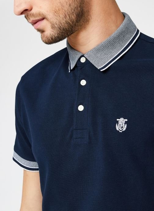 Vêtements Selected Homme Slhtwist Ss Polo W Noos Bleu vue face