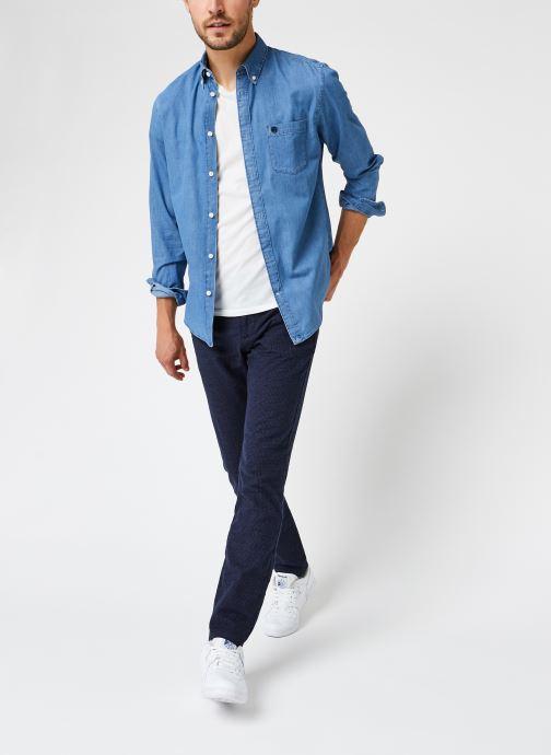 Vêtements Selected Homme Slhslim-Arval Pants W Noos Bleu vue bas / vue portée sac