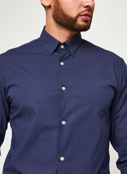 Vêtements Selected Homme Slhslimmichigan Shirt Ls B Noos Bleu vue face
