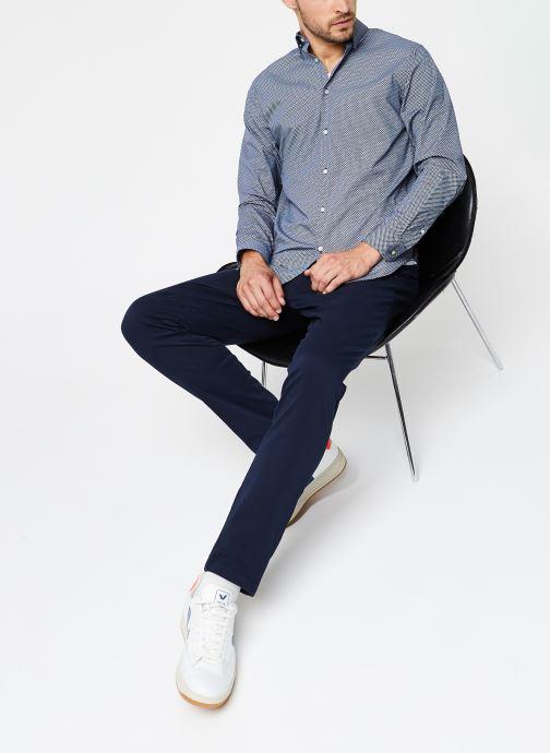 Vêtements Selected Homme Slhslimmichigan Shirt Ls B Noos Bleu vue bas / vue portée sac