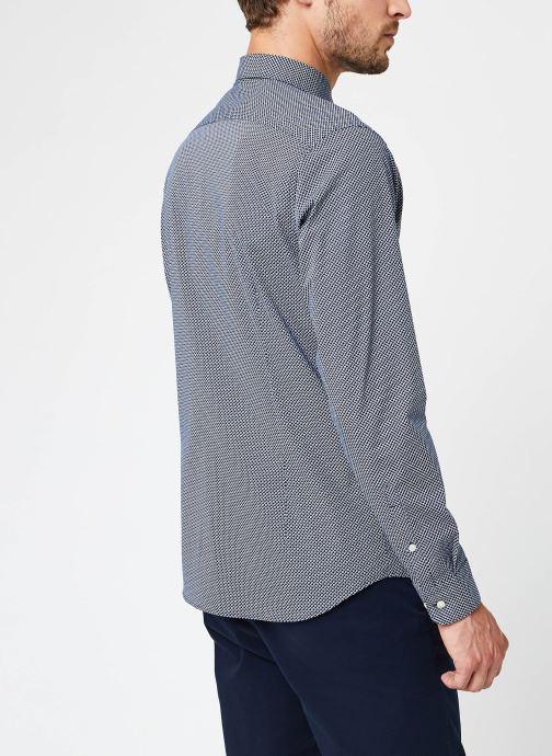 Vêtements Selected Homme Slhslimmichigan Shirt Ls B Noos Bleu vue portées chaussures