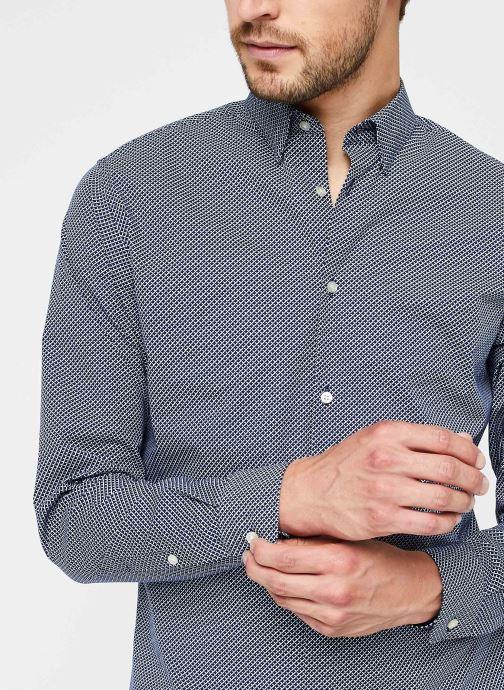 Vêtements Selected Homme Slhslimmichigan Shirt Ls B Noos Bleu vue face