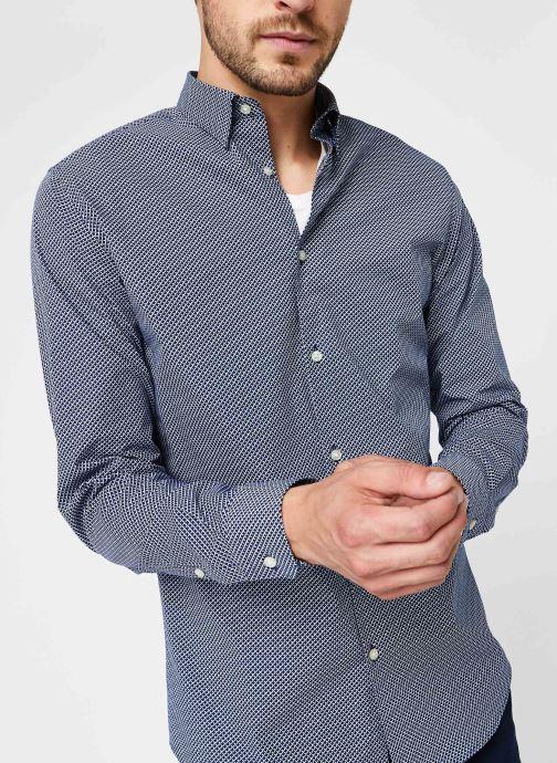 Vêtements Selected Homme Slhslimmichigan Shirt Ls B Noos Bleu vue détail/paire