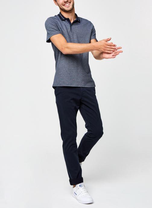 Vêtements Selected Homme Slhavenue Ss Polo B Bleu vue bas / vue portée sac