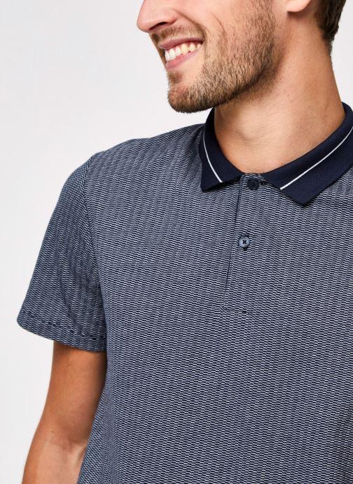Vêtements Selected Homme Slhavenue Ss Polo B Bleu vue face