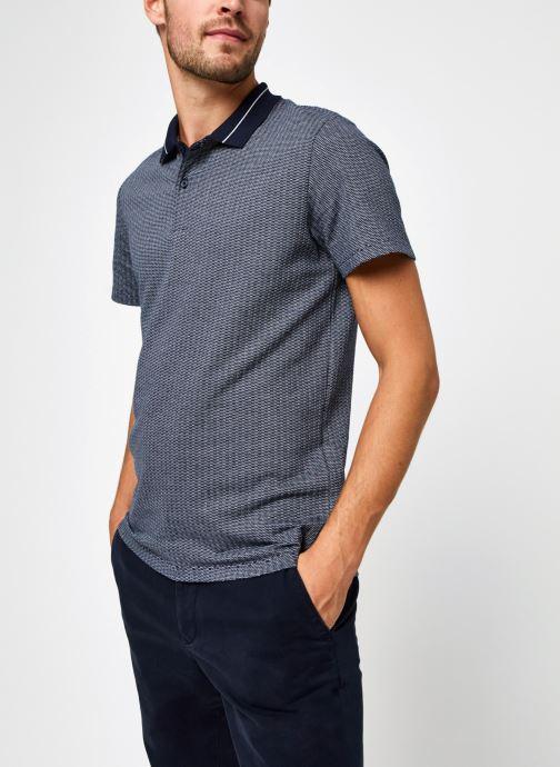 Vêtements Selected Homme Slhavenue Ss Polo B Bleu vue droite