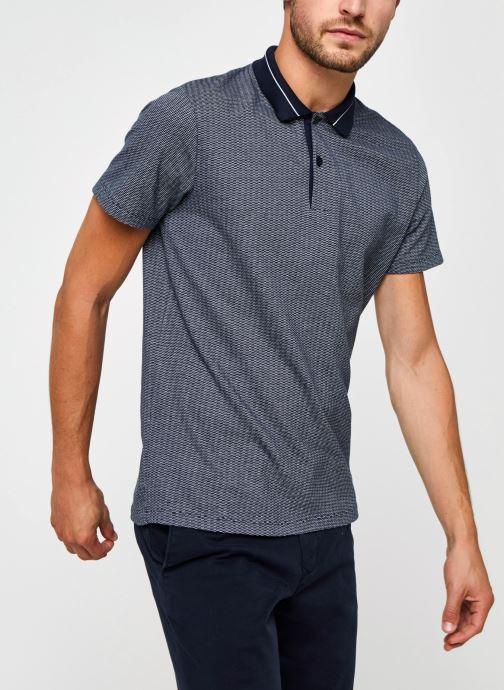 Vêtements Selected Homme Slhavenue Ss Polo B Bleu vue détail/paire