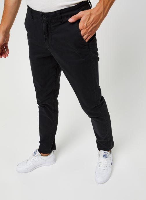 Vêtements Selected Homme Slhstraight-Newparis Flex Pants W Noos Noir vue détail/paire