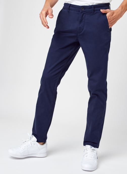 Kleding Selected Homme Slhstraight-Newparis Flex Pants W Noos Blauw detail