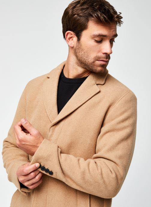 Vêtements Selected Homme Slhhagen  Wool Coat B Beige vue face