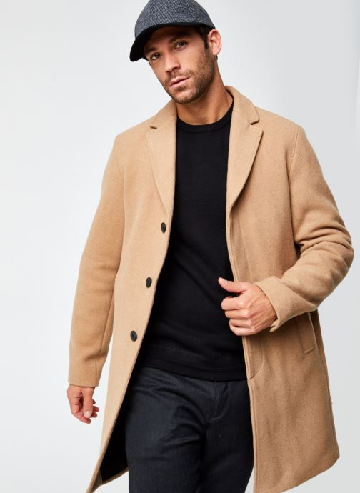 Vêtements Selected Homme Slhhagen  Wool Coat B Beige vue détail/paire