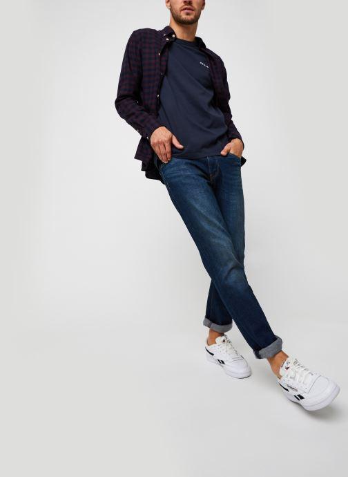 Vêtements Selected Homme Slhslimflannel Shirt Ls W Noos Bordeaux vue bas / vue portée sac