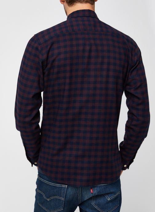 Vêtements Selected Homme Slhslimflannel Shirt Ls W Noos Bordeaux vue portées chaussures