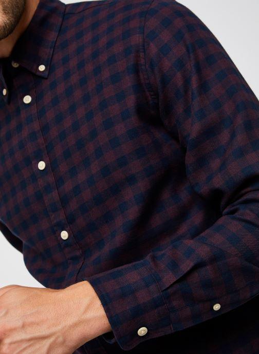 Vêtements Selected Homme Slhslimflannel Shirt Ls W Noos Bordeaux vue face