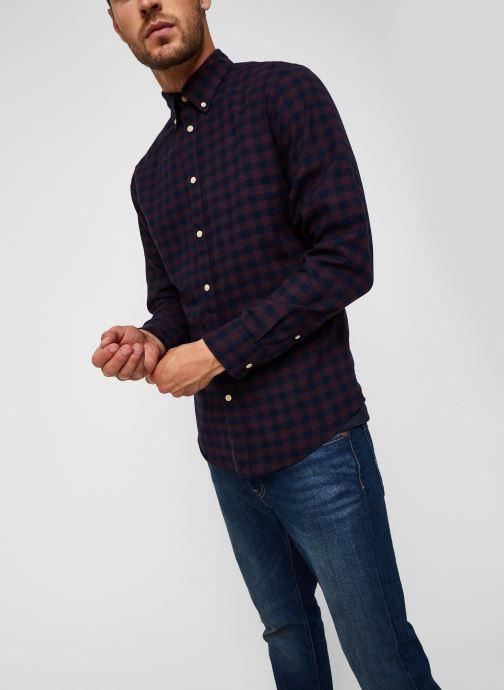 Vêtements Selected Homme Slhslimflannel Shirt Ls W Noos Bordeaux vue droite