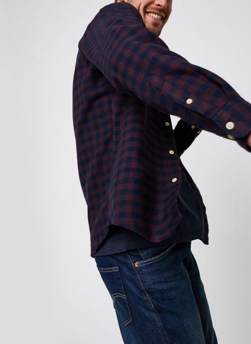 Vêtements Selected Homme Slhslimflannel Shirt Ls W Noos Bordeaux vue détail/paire