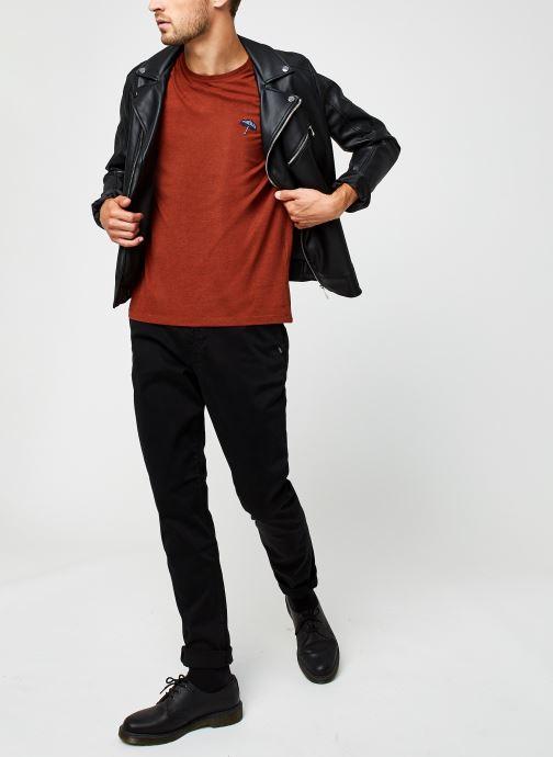 Vêtements Selected Homme Slhastor Ss O-Neck Tee B Rouge vue bas / vue portée sac