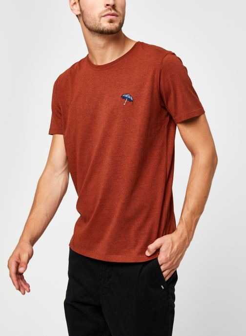 Vêtements Selected Homme Slhastor Ss O-Neck Tee B Rouge vue droite
