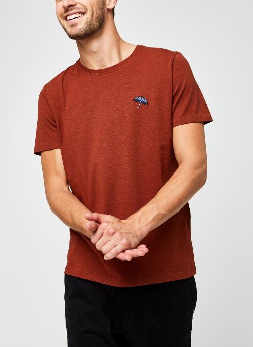 Vêtements Selected Homme Slhastor Ss O-Neck Tee B Rouge vue détail/paire