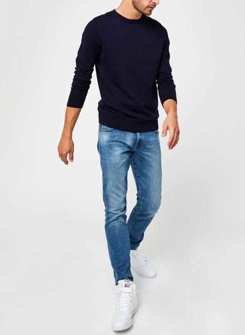 Vêtements Selected Homme Slhberg Crew Neck B Noos Bleu vue bas / vue portée sac