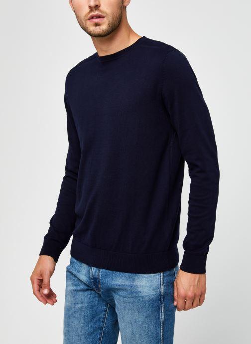 Vêtements Selected Homme Slhberg Crew Neck B Noos Bleu vue droite