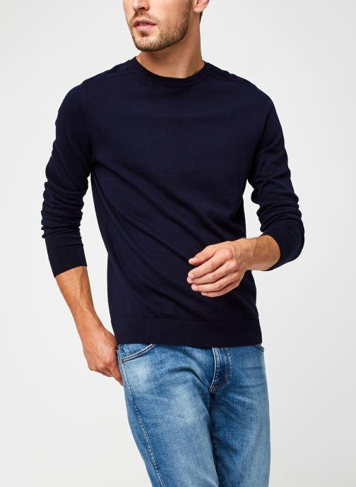 Vêtements Selected Homme Slhberg Crew Neck B Noos Bleu vue détail/paire