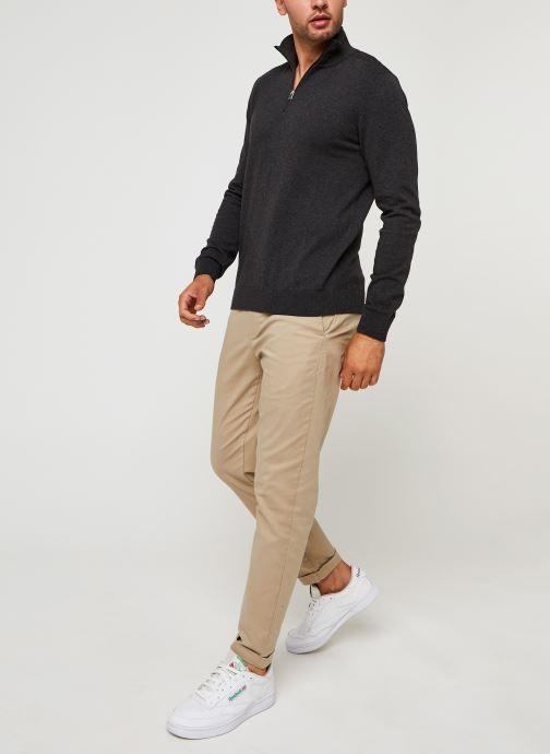 Vêtements Selected Homme Slhberg Half Zip Cardigan B Noos Gris vue bas / vue portée sac