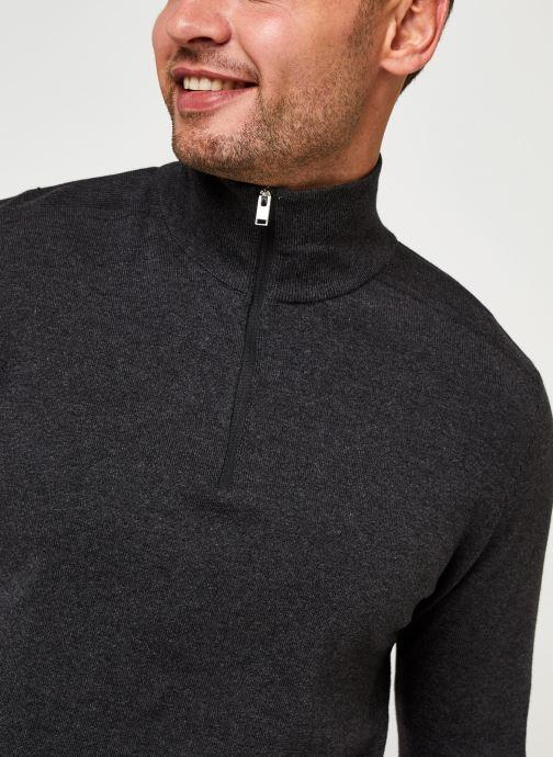 Vêtements Selected Homme Slhberg Half Zip Cardigan B Noos Gris vue face