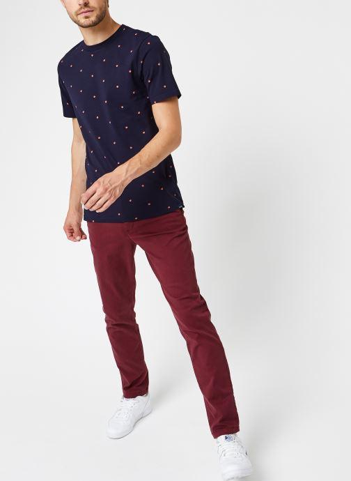 Vêtements Selected Homme Slhstraight-Newparis Flex Pants W Bordeaux vue bas / vue portée sac
