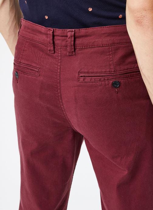 Vêtements Selected Homme Slhstraight-Newparis Flex Pants W Bordeaux vue face