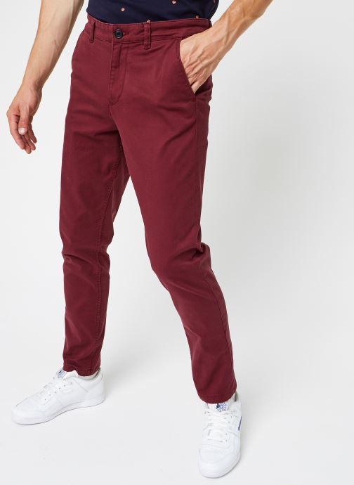 Vêtements Selected Homme Slhstraight-Newparis Flex Pants W Bordeaux vue détail/paire