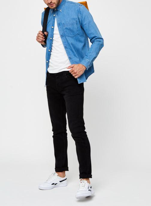 Vêtements Selected Homme Slhregross Denim Shirt Ls J Bleu vue bas / vue portée sac