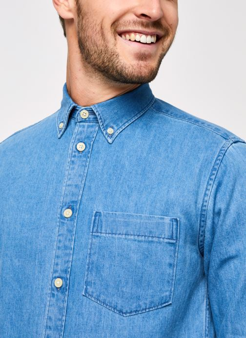 Vêtements Selected Homme Slhregross Denim Shirt Ls J Bleu vue face