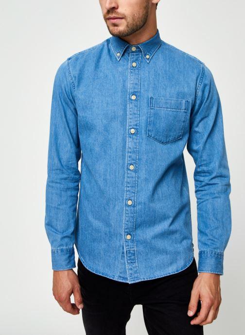 Vêtements Selected Homme Slhregross Denim Shirt Ls J Bleu vue droite