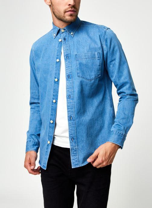 Vêtements Selected Homme Slhregross Denim Shirt Ls J Bleu vue détail/paire