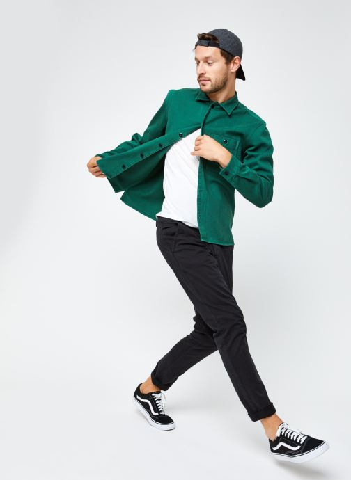 Vêtements Selected Homme Slhloosejace Overshirt Ls W Vert vue bas / vue portée sac